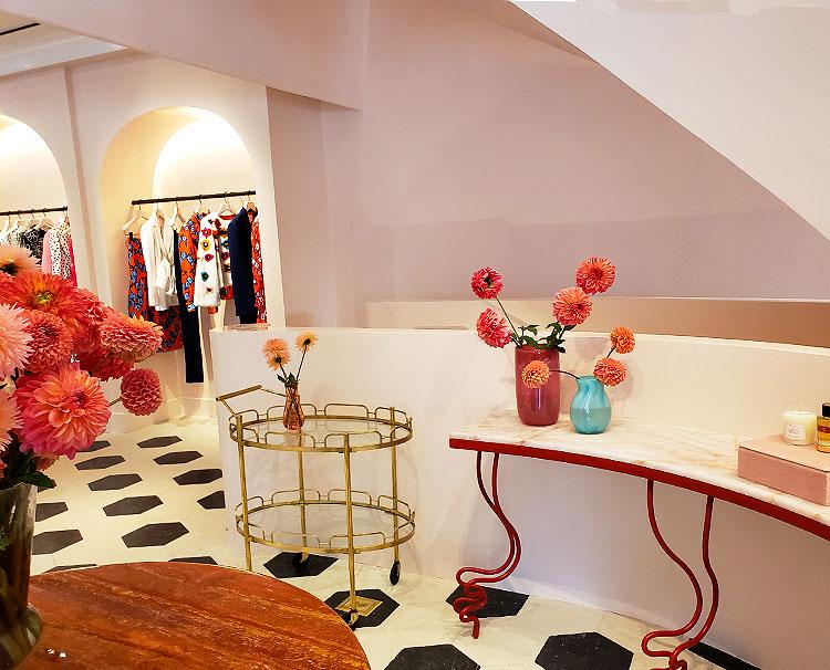 A display inside the Madison Avenue Carolina Herrera boutique