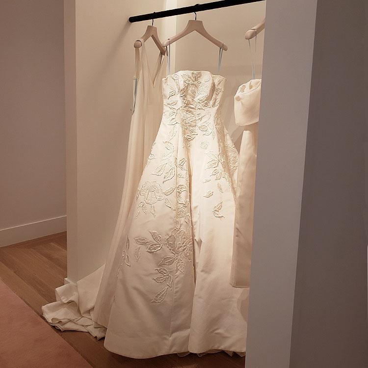 The Bridal Floor at the Carolina Herrera Boutique