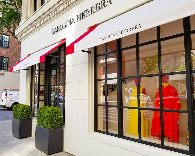 The Madison Avenue entrance to the Carolina Herrera store