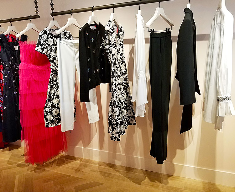 Clothing in the Carolina Herrera NYC boutique