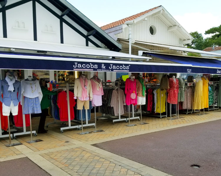 The Jacobs boutique in Arcachon