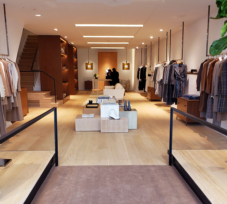 Entering the Lafayette 148 Store on Madison Avenue to shop