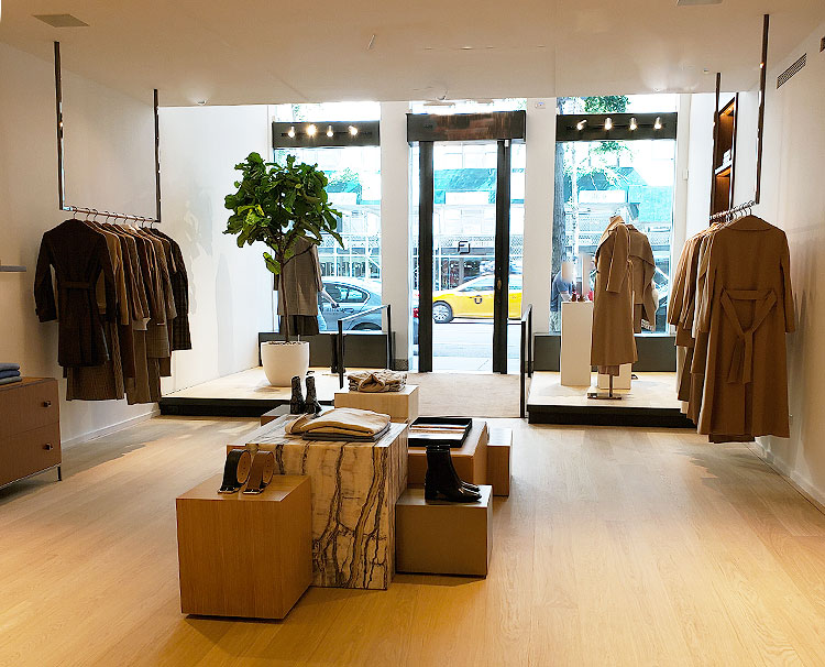 Shopping in a new store on Madison Avenue