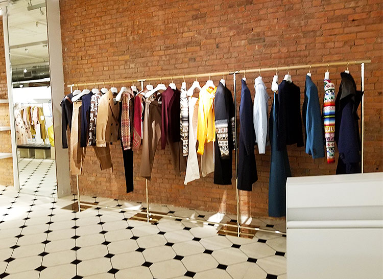 Men's clothing in the Lanvin Soho boutique