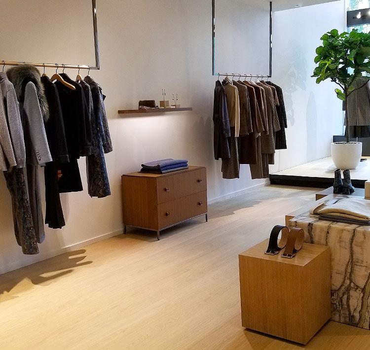 Shopping for minimal clothing on Madison Avenue