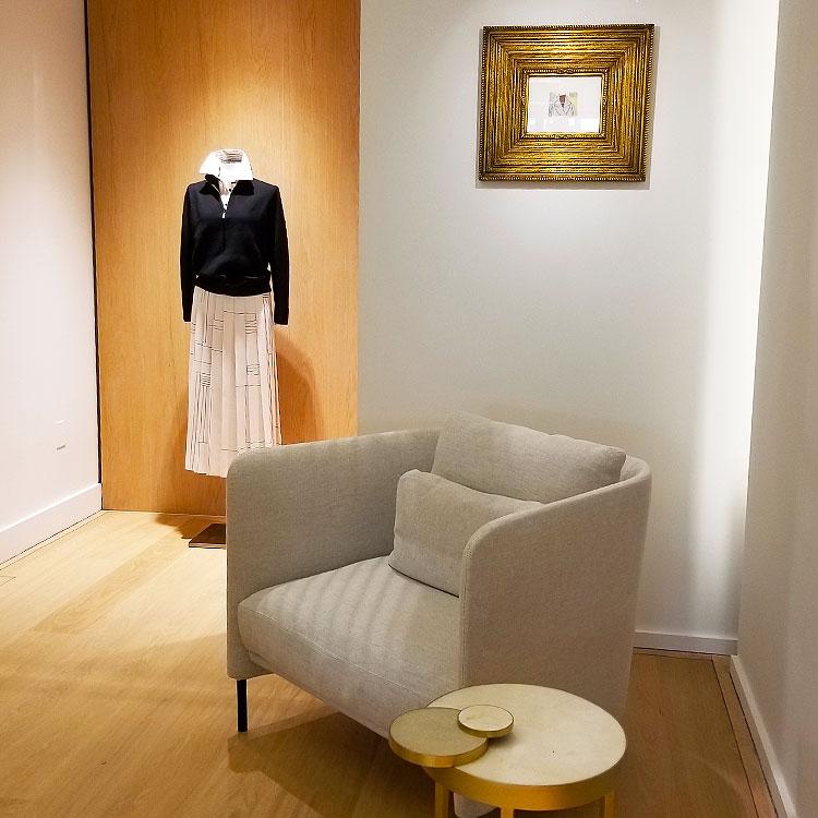Inside a fashion boutique on Madison Avenue