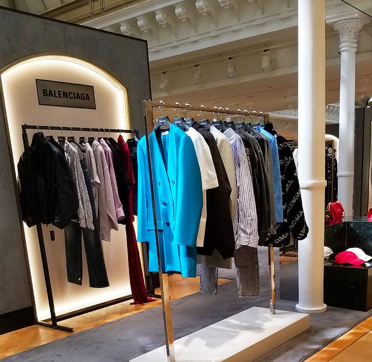 Balenciaga boutique in the Bon Marche department store in Paris
