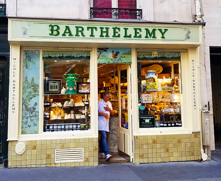 The Barthelemy cheese store in Paris
