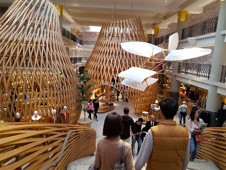 The Left Bank Hermes boutique in Paris