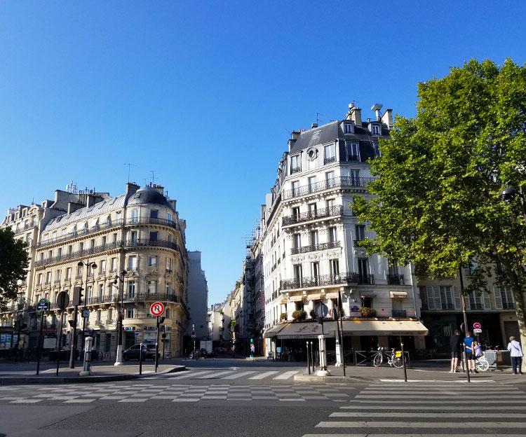 The Boulevard St. Germain meets the Rue du Bac in Paris