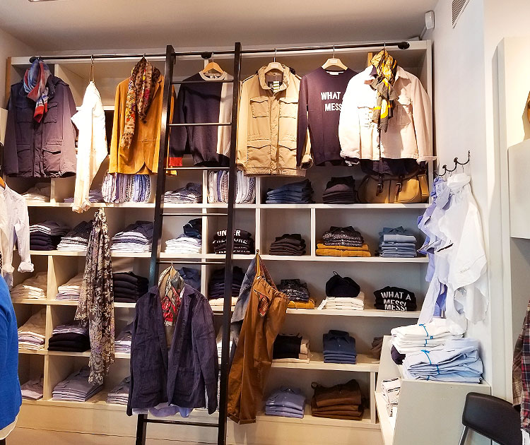 The Victoire store for men in Paris
