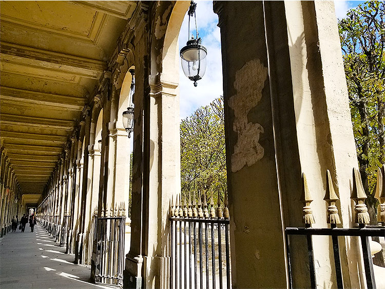 In the Galleries of the Palais Royal