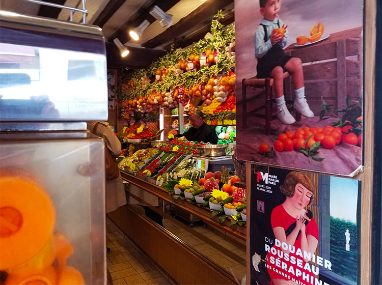 A fruit and vegetable boutique in Paris