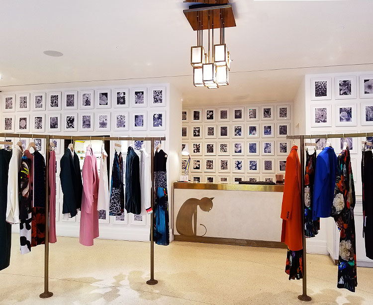 The inside of the Paul Smith boutique in Paris