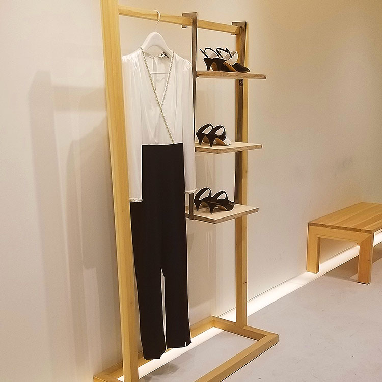 A minimal jumpsuit in the Self-Portrait boutique in Soho