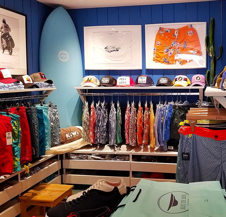 Men's wear in Cap Ferret in a store