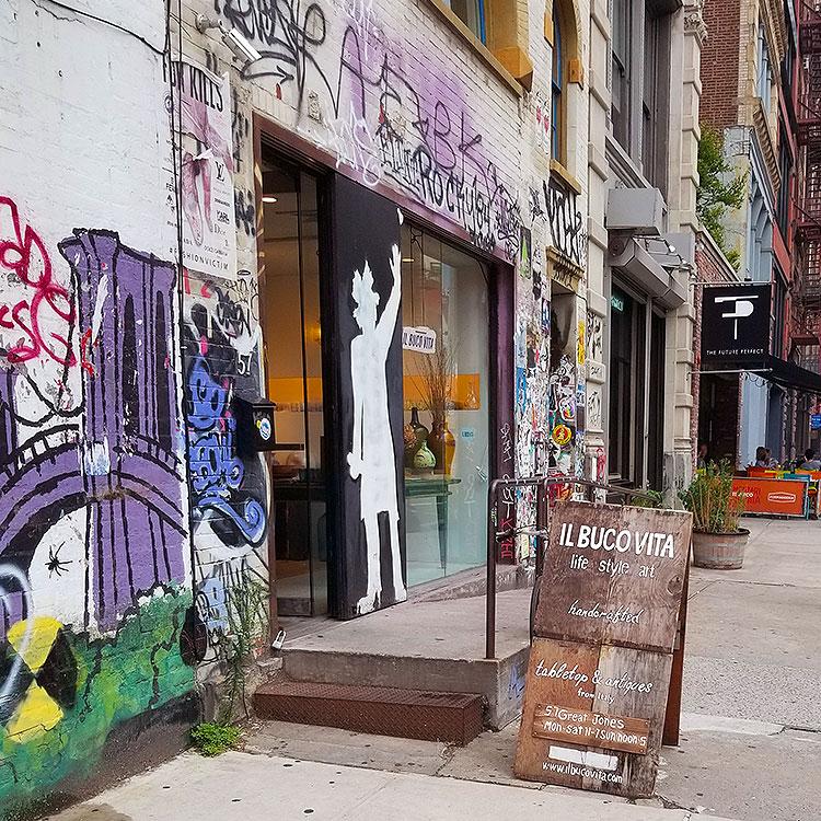 Basquiat's studio in NYC