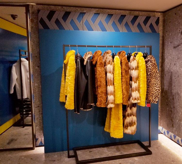 Colorful faux furs at Maison Atia