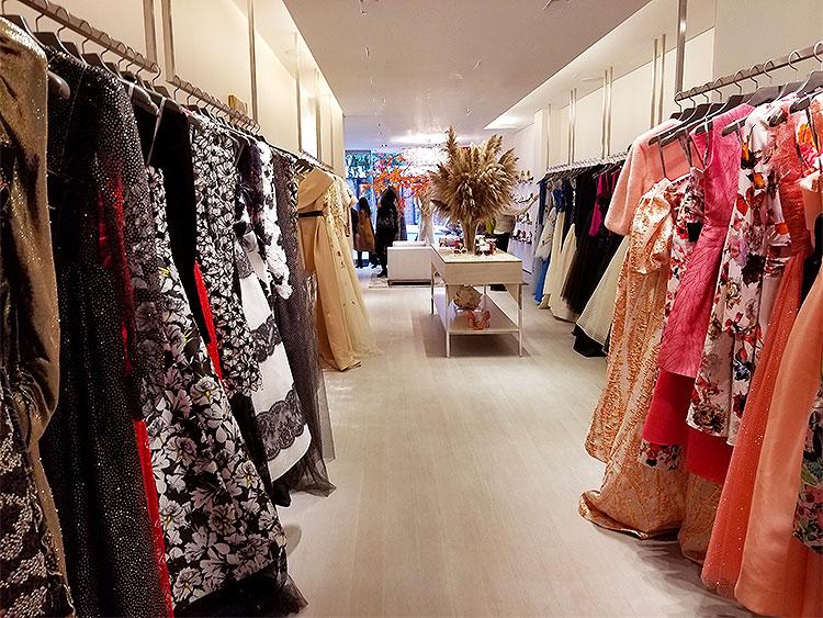 Monique Lhuiller's colorful array of ballgowns.