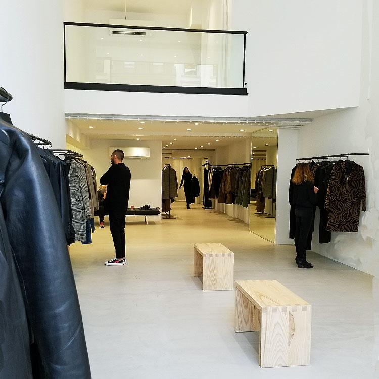 Nili Lotan's minimalist store.