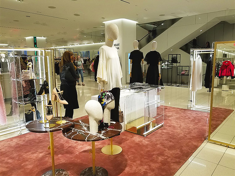 Valentino clothing at Nordstrom in NY