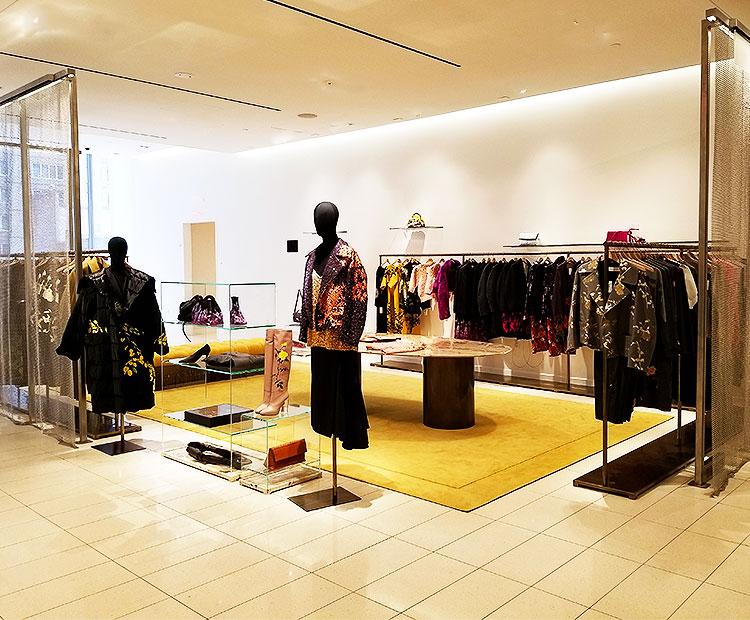 The Dries van Noten boutique at Nordstrom