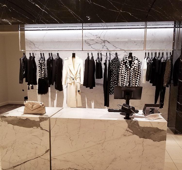 The Saint Laurent boutique in Nordstrom