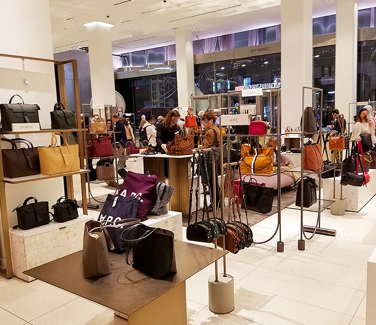 A good selection of contemporary bags in Nordstrom