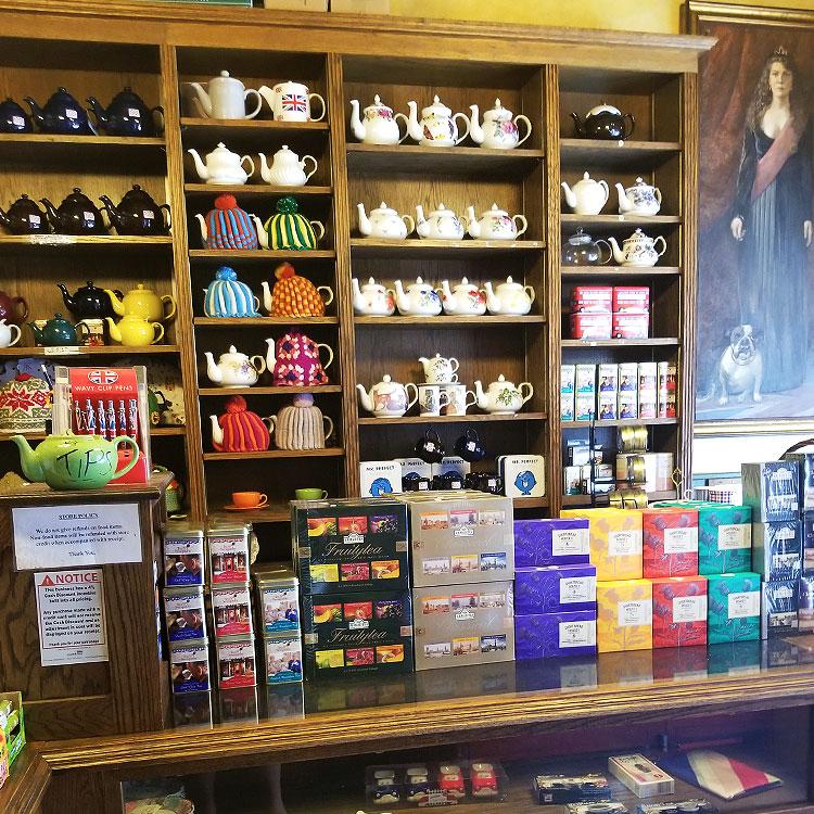 Inside Tea and Sympathy shop nyc