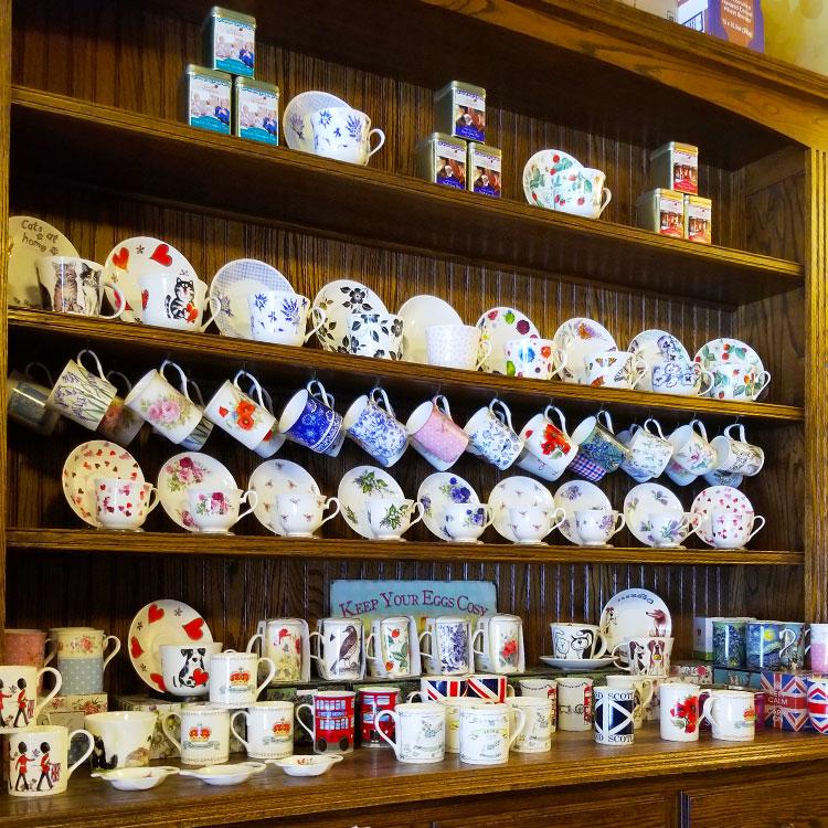 Vintage tea cups in NYC