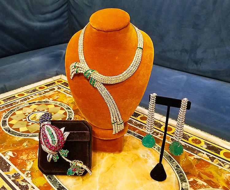 Vintage diamond jewelry for sale on Madison Avenue
