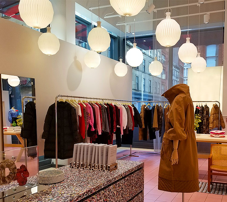 Inside the Ganni boutique in Soho