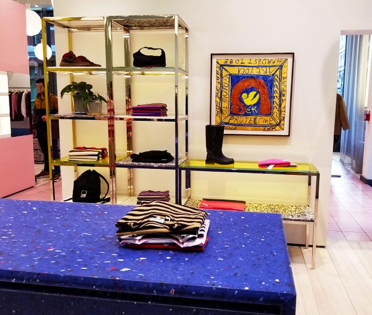 Knitwear in the Ganni store in Soho