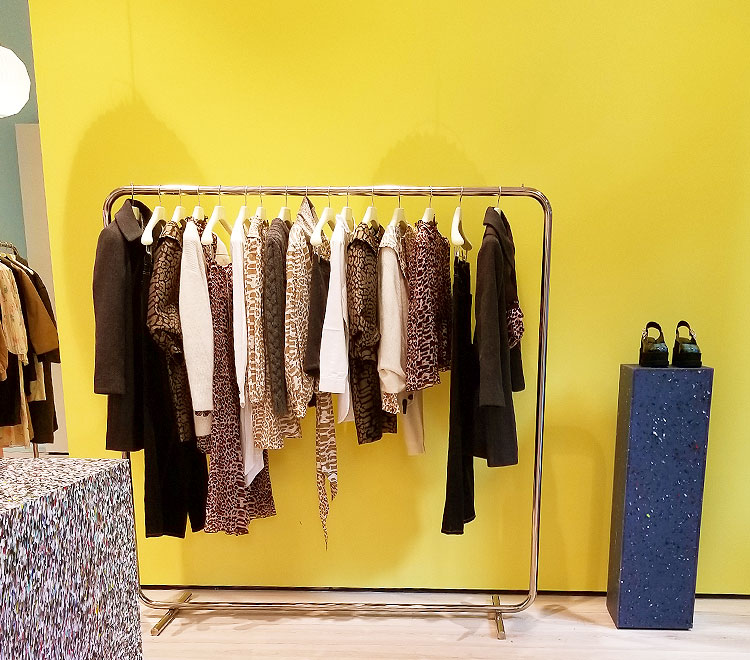 Ganni clothing in the Soho store