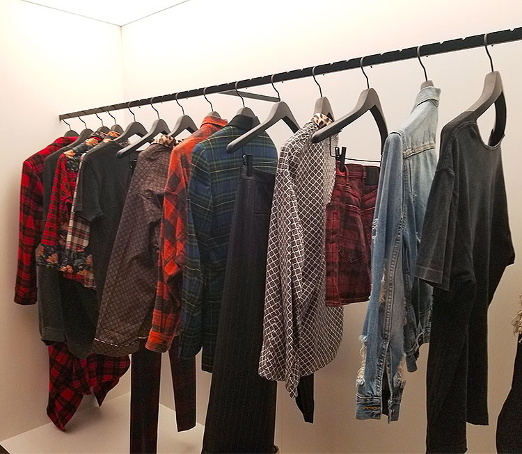 Tartans in the R13 boutique