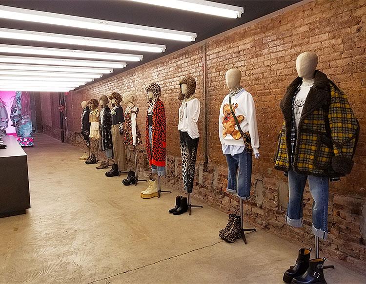 Inside the R13 store in Soho