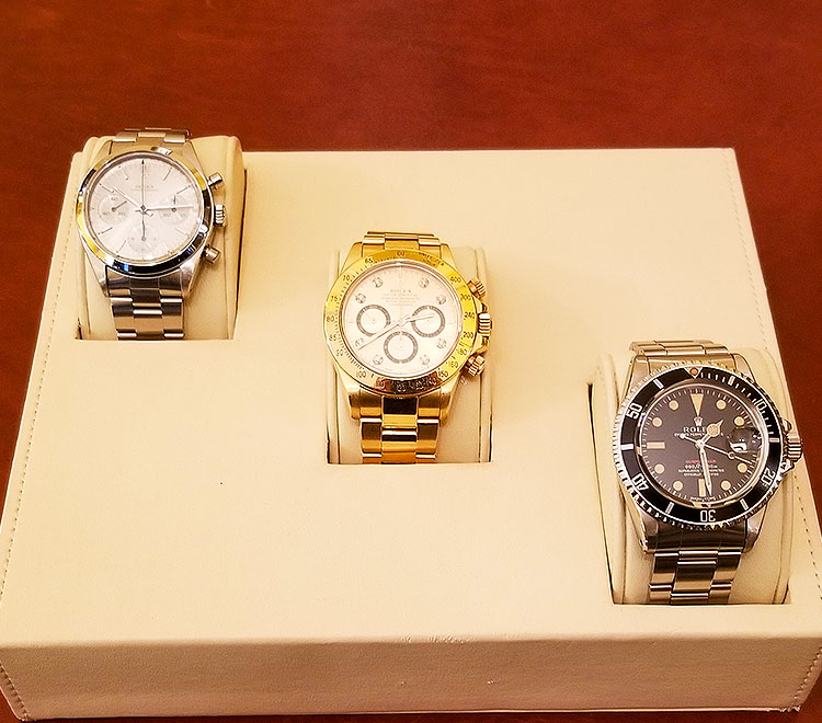 Vintage Rolex watches for sale on Madison Avenue