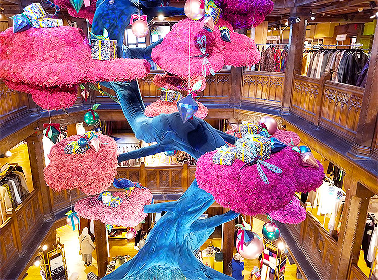 Playful Christmas Decor in Liberty of London