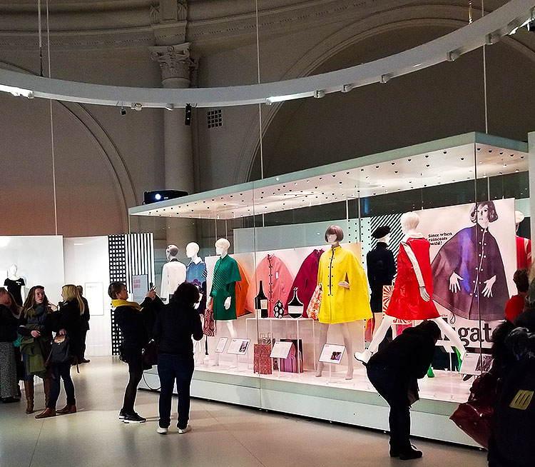 Capes and Coats at the Mary Quant Exhibit at the V&A A