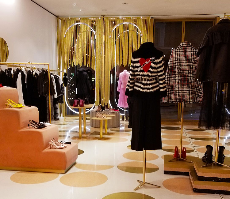 The Red Valentino Boutique on Sloane Street in London