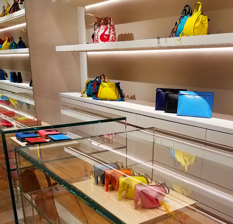 Colorful Bags, Including the Mimi Elephants from Loewe.