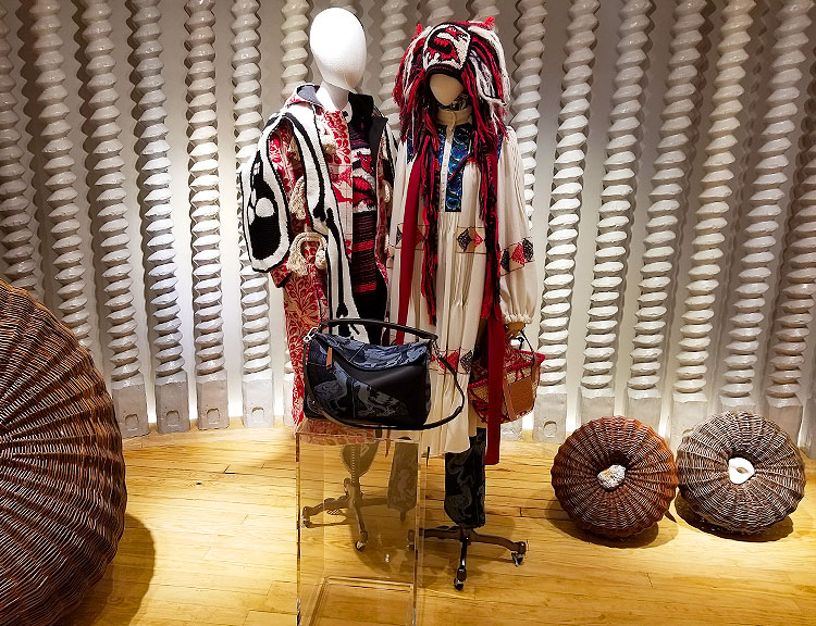 The Craft of Loewe on Display at Loewe store in Soho.