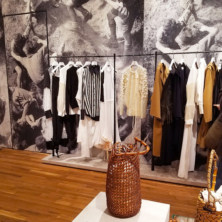 Artistic Loewe clothing in the Soho store