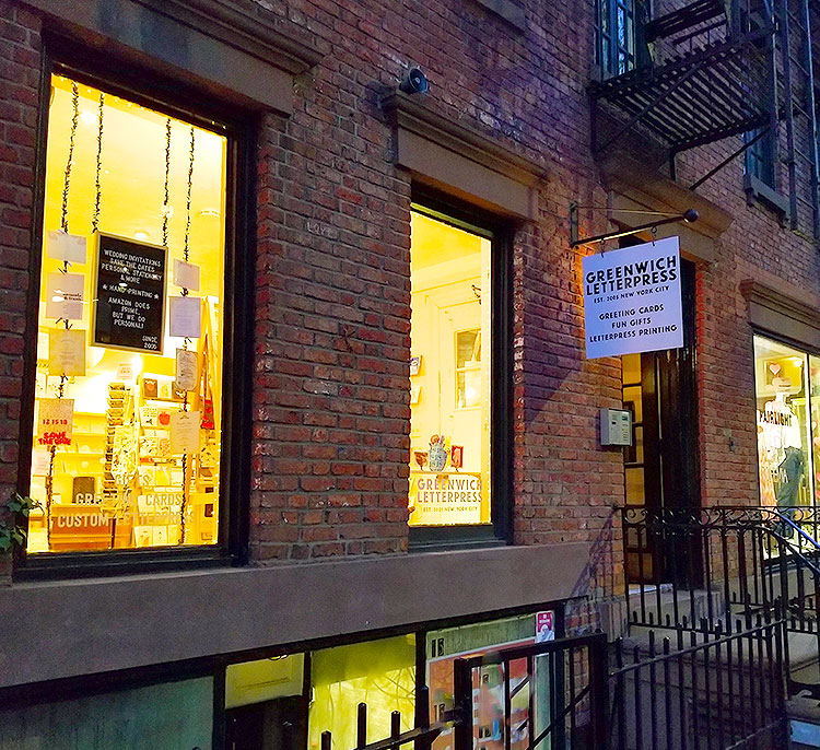 Greenwich Letterpress is Located in a Federal-style Townhouse.