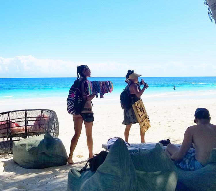 Sellers on the Tulum Beach