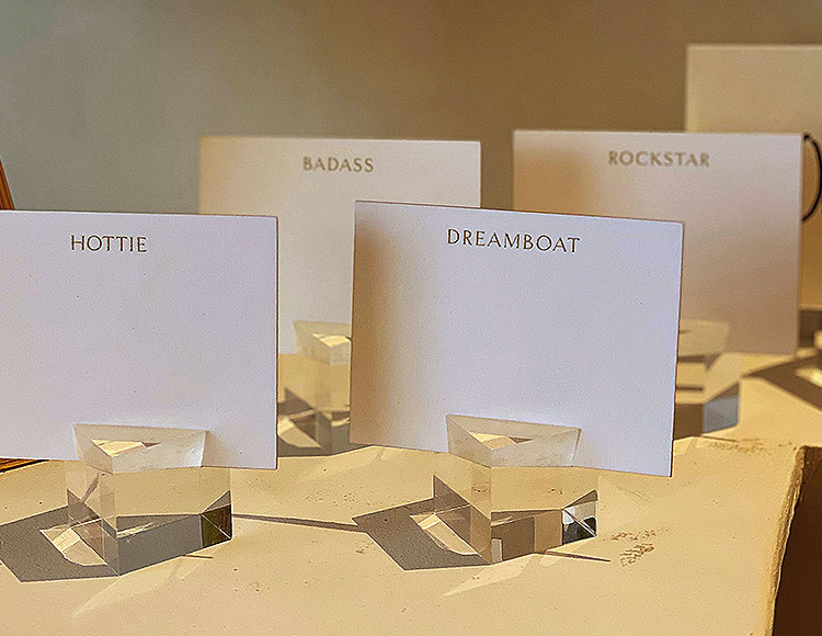 Place Cards with Attitude for Sale in NYC