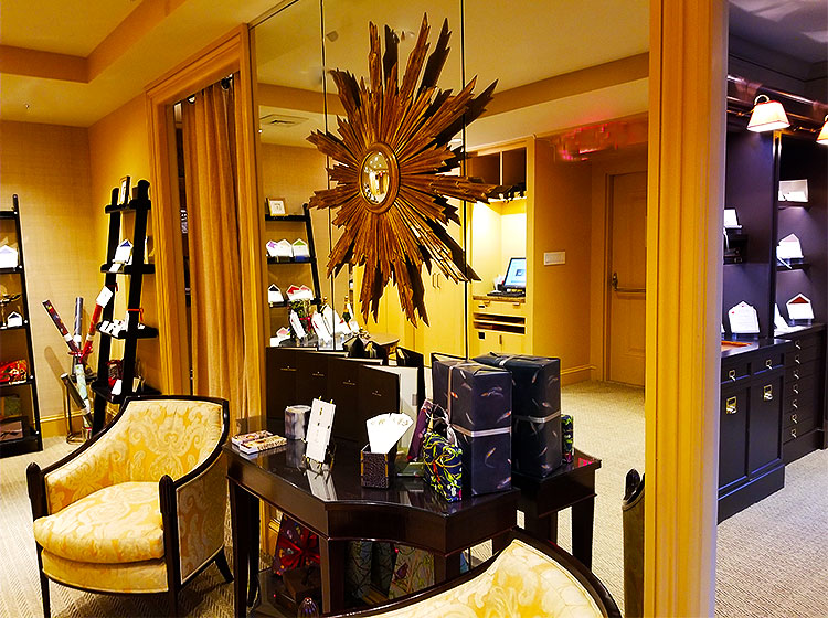 The elegant Mrs. John Strong showroom.