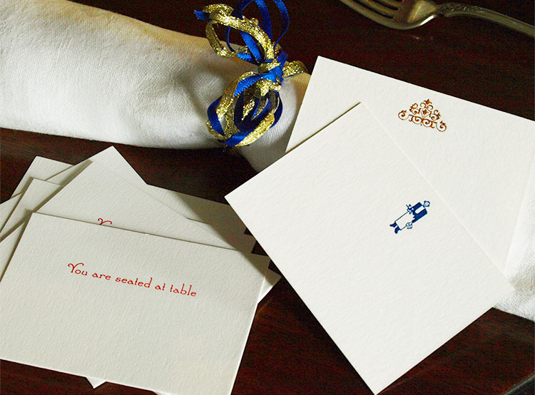Seating Cards, Place Cards and Menus