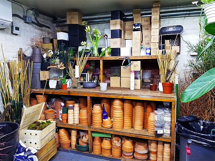 A Potting Facility at the Back of the Shop.