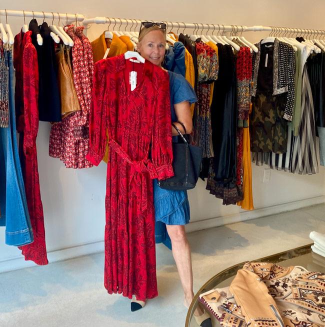 Karen Klopp, Hilary Dick, New York Social Diary shop Madison Avenue, New York, Alice and Olivia,